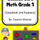 Common Core Math Checklist and 'Kid-Friendly' Posters (Gr. 1)