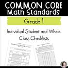 Common Core Math Checklists - Individual and Class - Grade 1