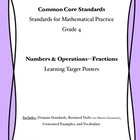 Common Core Math Curriculum Posters Grade 4, Number and Op