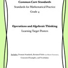 Common Core Math Curriculum Posters Grade 4, Operations an