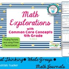 Common Core Math Explorations: Factors and Prime Factoriza