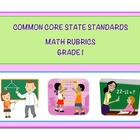 Common Core Math Grade 1 Rubrics