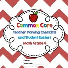 4th Grade Common Core Math Checklists and Student Rosters