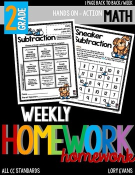 Common Core Math Homework - Grade 2 - Term 2