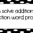 Common Core Math &quot;I Can&quot; Statements 1st Grade- Black and White