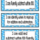 Common Core Math &quot;I Can&quot; Statements 2nd Grade- Color Coded