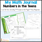 Kindergarten Math Journal 2:  Numbers in the Teens CC Aligned
