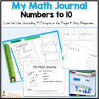 Common Core Math Journal for  K.CC.3-K.CC6 and more!