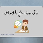 Common Core Math Journals (Samples)