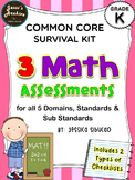 Common Core Math Assessments for Kinder