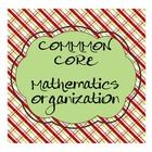 Common Core Math Organization: Labels and Lists, PreK-8