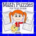 Common Core Math Puzzles - 1st Grade