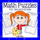 Common Core Math Puzzles - 2nd Grade