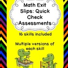 Common Core Math Quick Check/Exit Slip Assessment Pack