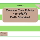 Common Core Math Rubrics:  Grade Kindergarten