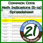 Common Core Math Standards (6-12) in an Excel Spreadsheet