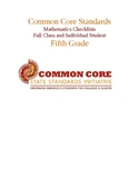 Common Core Math Standards Chart - Fifth Grade.docx