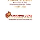 Common Core Math Standards Chart - Fourth Grade.docx