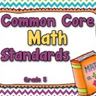 Common Core Math Standards Posters - Grade 5 (Rainbow Colors)