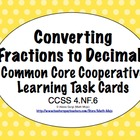 Common Core Math Task Cards Converting Fractions (Tenths a