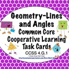 Common Core Math Task Cards Geometry - Lines and Angles CC