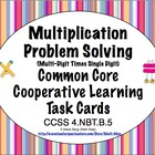 Common Core Math Task Cards Multiplication (Single Digit X