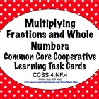 Common Core Math Task Cards Multiplying a Fraction by a Wh