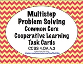 Common Core Math Task Cards - Multistep Problem Solving CC