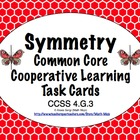 Common Core Math Task Cards - Symmetry CCSS 4.G.3