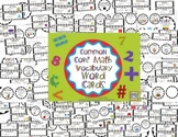 Common Core Math Vocabulary Cards