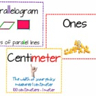Common Core Math Vocabulary Word Wall