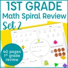 Common Core Math Warm Up- 1st Grade- Set 2