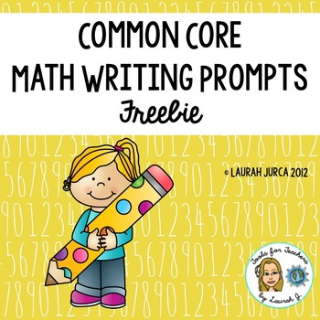 Common Core Math Writing Freebie