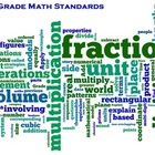 Common Core Mathematics 5th Grade Word Cloud Poster White