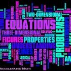 Common Core Mathematics 7th Grade Accelerated Word Cloud Poster