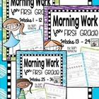 Common Core Morning Work for First Graders Big Bundle Week