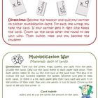Common Core Multiplication Station Cards for Activities