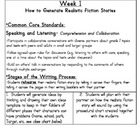 Common Core Narrative Writing- 1st Grade Realistic Fiction Unit