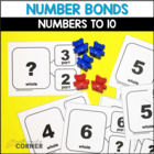 Common Core: Number Bond Flashcards (Part-Part-Whole)
