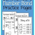 Common Core Number Bond Practice Pages
