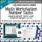 Common Core: Number Cards to 120, Workstation Task Cards