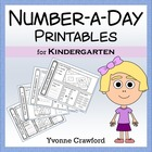 Common Core Number a Day Math Worksheets (Kindergarten)