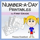Common Core Number a Day Math Worksheets (first grade)