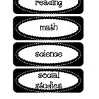 Common Core Objective Headers / Signs for Pocket Chart in Black