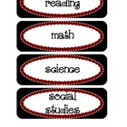 Common Core Objective Headers / Signs for Pocket Chart wit