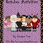 Common Core October Halloween Activities - Math, Language