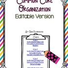 Common Core Organization Set EDITABLE
