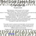 Common Core Pack First Grade, Zebra Theme