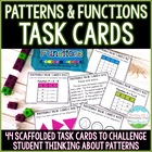 Common Core Pattern Task Cards 4.OA.5 and 5.OA.3