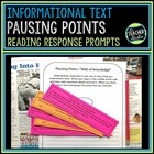"Common Core ""Pausing Points"" Reading Reflections:  Informa"